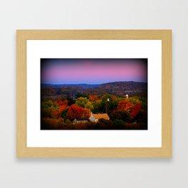 Sunset of Many Colors Framed Art Print