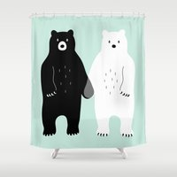 gray Shower Curtains featuring Gray by Andy Westface