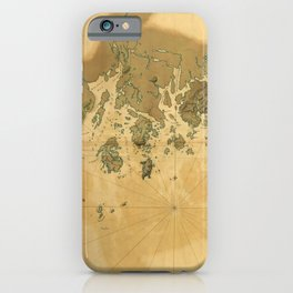 Coast of Maine from Frenchmans Bay to Mosquito Harbor (1776) iPhone Case