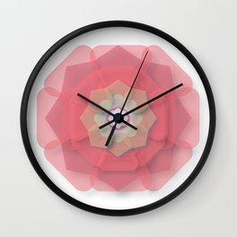 Pink Floral Meditation Wall Clock