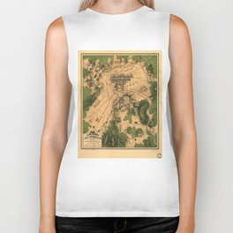 Vintage Map of The Gettysburg Battlefield (1863) 3 Biker Tank