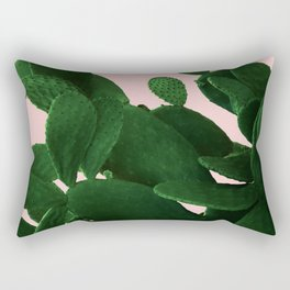 Cactus On Pink Rectangular Pillow