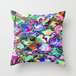 unusual abstract art design background Throw Pillow