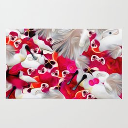 Pink and White Delight Rug