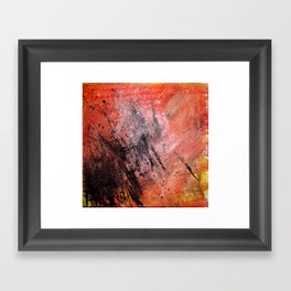 White Dust Framed Art Print