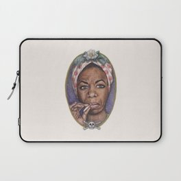 Watercolor Painting of Nina Simone Laptop Sleeve