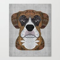 boxer Canvas Prints featuring Boxer by ArtLovePassion