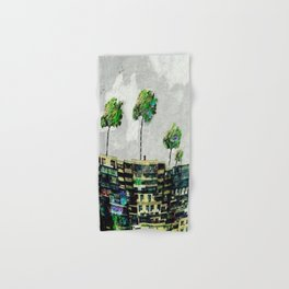 the story of green trees Hand & Bath Towel