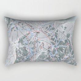 Snowbird Resort Trail Map Rectangular Pillow