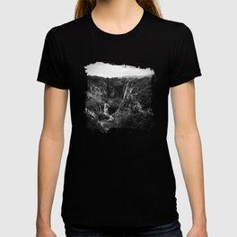 veliki slap waterfall 1 plitvice lakes national park croatia bw lowfi T-shirt