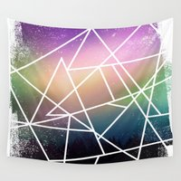 night sky Wall Tapestries featuring night sky by Cat Milchard