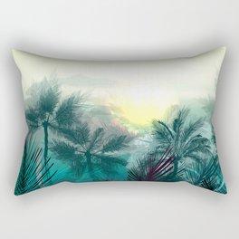 Tropical landscape. Pampa jungle trees, palms Rectangular Pillow