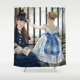 Edouard Manet - Le Chemin de fer Shower Curtain