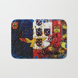 Portuguese flags art Bath Mat