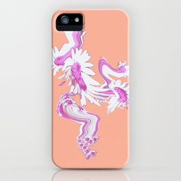 Meadow Dreaming peach background iPhone Case
