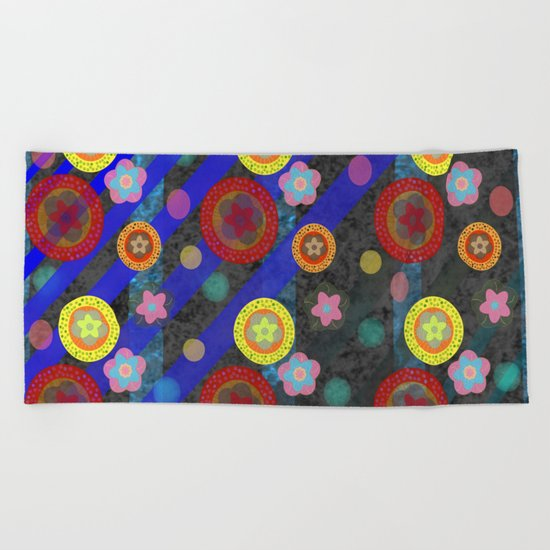Buttons and Bobs Beach Towel