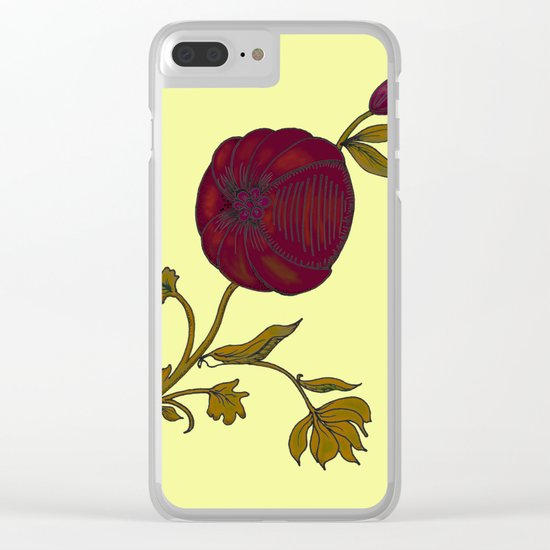 simple decorative pomegranate 3 Clear iPhone Case
