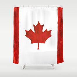 Watercolor Canada Shower Curtain