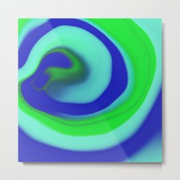 Green blue abstract pattern Metal Print