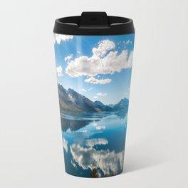 Sun rays at Lake Wakatipu, New Zealand Travel Mug