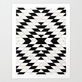 Urban Tribal Pattern No.15 - Aztec - White Concrete Art Print