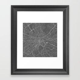 Roanoke USA Modern Map Art Print Framed Art Print
