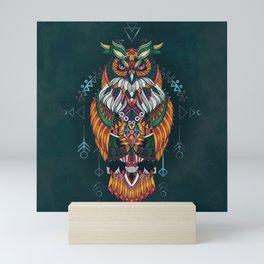 Wisdom Of The Owl King Mini Art Print