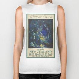 Vintage poster - Waitomo Caves Biker Tank
