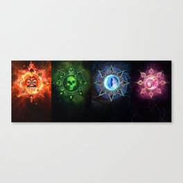 Chaos Icons - Banner Canvas Print
