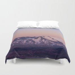 Mount Saint Helens at dusk Duvet Cover