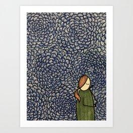 Wallpaper Girl Art Print