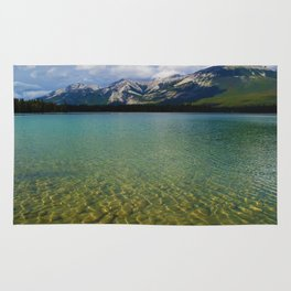 The Collin Range as seen from Lake Edith in Jasper National Park Rug