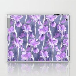 Simple Iris Pattern in Pastel Purple Laptop & iPad Skin