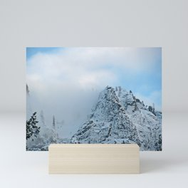 Cloud Shrouded Sierra Nevada Mountains Mini Art Print