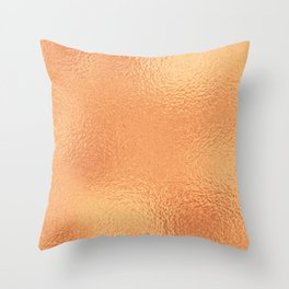 Simply Metallic in Copper Throw Pillow