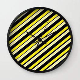TEAM COLORS 1...double yellow,black and white. Wall Clock