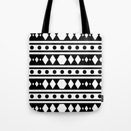 White tribal pattern Tote Bag