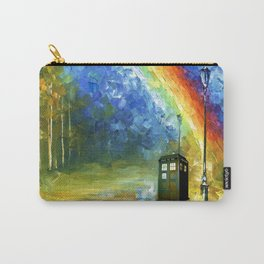 TARDIS WITH RAINBOW Carry-All Pouch