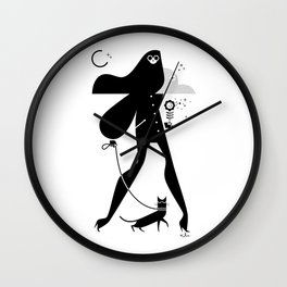 Catwalker Wall Clock