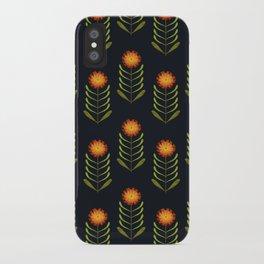 Wildflowers: Hawkweed Pattern iPhone Case