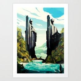 The Gates of Argonath Art Print