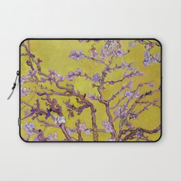 "Vincent van Gogh ""Almond Blossoms"" (edited gold) Laptop Sleeve"