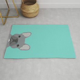 French Bulldog cute grey puppy funny bulldog pet gift for dog person loved one valentines day dogs Rug