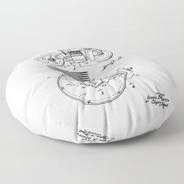 Motorcycle Patent Art Floor Pillow