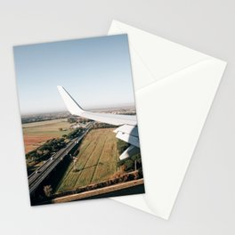 italian landscape from the airplane Stationery Cards