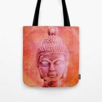 buddha Tote Bags featuring Buddha by LebensART