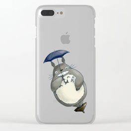 totoro3 Clear iPhone Case