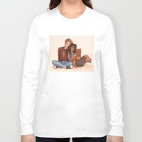 hermione Long Sleeve T-shirts featuring Ron and Hermione by Susanne