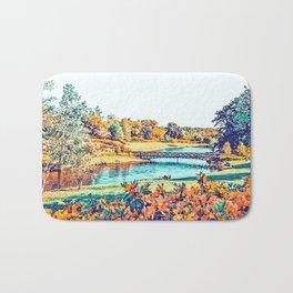Garden Stroll #painting #nature Bath Mat