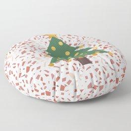 Christmas tree and terrazzo Floor Pillow